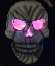 Vintage Hanging Lighted Skull LED Glow Halloween Prop Dungeon Décor Pape... - $44.99