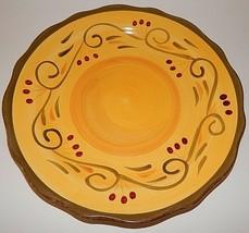 Home Trends Italian Villa Dinner Plate Yellow Green Scalloped Edge 6578967 - $24.74