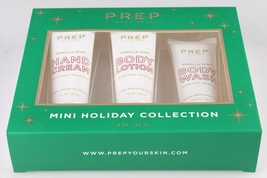 PREP Your Skin Cosmetics Vanilla Mint Mini Bath Set 3 oz Body Wash Lotion Cream image 2