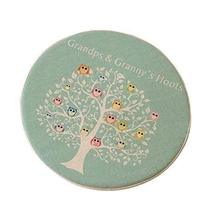 PANDA SUPERSTORE Pale Blue Style Round Chair Pads Owl and Tree Pattern Cushions