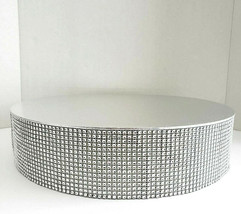 """Rhinestone Accented Wedding Cake Stand 14"""" Round Silver Base Holds up to... - $48.51"""