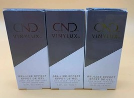 3 Pack CND Vinylux Gel-Like Effect Long Wear Top Coat 0.5oz/15ml New Fre... - $20.53