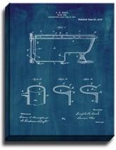 Bath Tub Patent Print Midnight Blue on Canvas - $39.95+