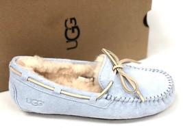 UGG Australia Women's DAKOTA Sky Blue 5612 Casual SHEEPSKIN MOCCASIN SLI... - $79.99