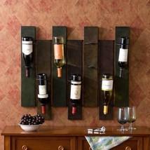 NEW Metal Wall Mounted Wine Rack Holds 7 Bottles Vino Lover Gift Storage... - $86.03