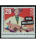 1993 29c Hank Williams, Country Music Hall of Fame Scott 2723a Mint F/VF NH - $5.78