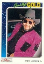 Hank Williams, Jr. trading card (Country Music) 1992 Sterling Country Go... - $4.00