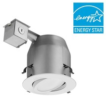 Lithonia Lighting 5 in. Matte White Recessed Gimbal Integrated LED Light... - €30,13 EUR