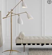 Visual Comfort Sommerard Floor Lamp 3 Arm Aerin 1009HABMid Century Modern Brass - $1,849.00