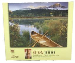 Jasper National Park Canada Canoe BIG BEN 1000 pc Jigsaw Puzzle 20 1/8 X 26 3/16 - $18.56