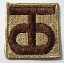 90th Reserve Command Patch Ssi U.S. Army - Desert Tan COLOR:FA12-1 - $3.35