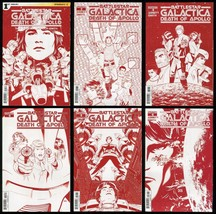 Battlestar Galactica Death of Apollo Comic Set 1-2-3-4-5-6 Lot Cylon Red... - $79.00