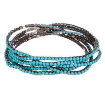 Classic elegant crystal stone jewelry bracelet lapis lazuli stretch bracelet ela - $10.17