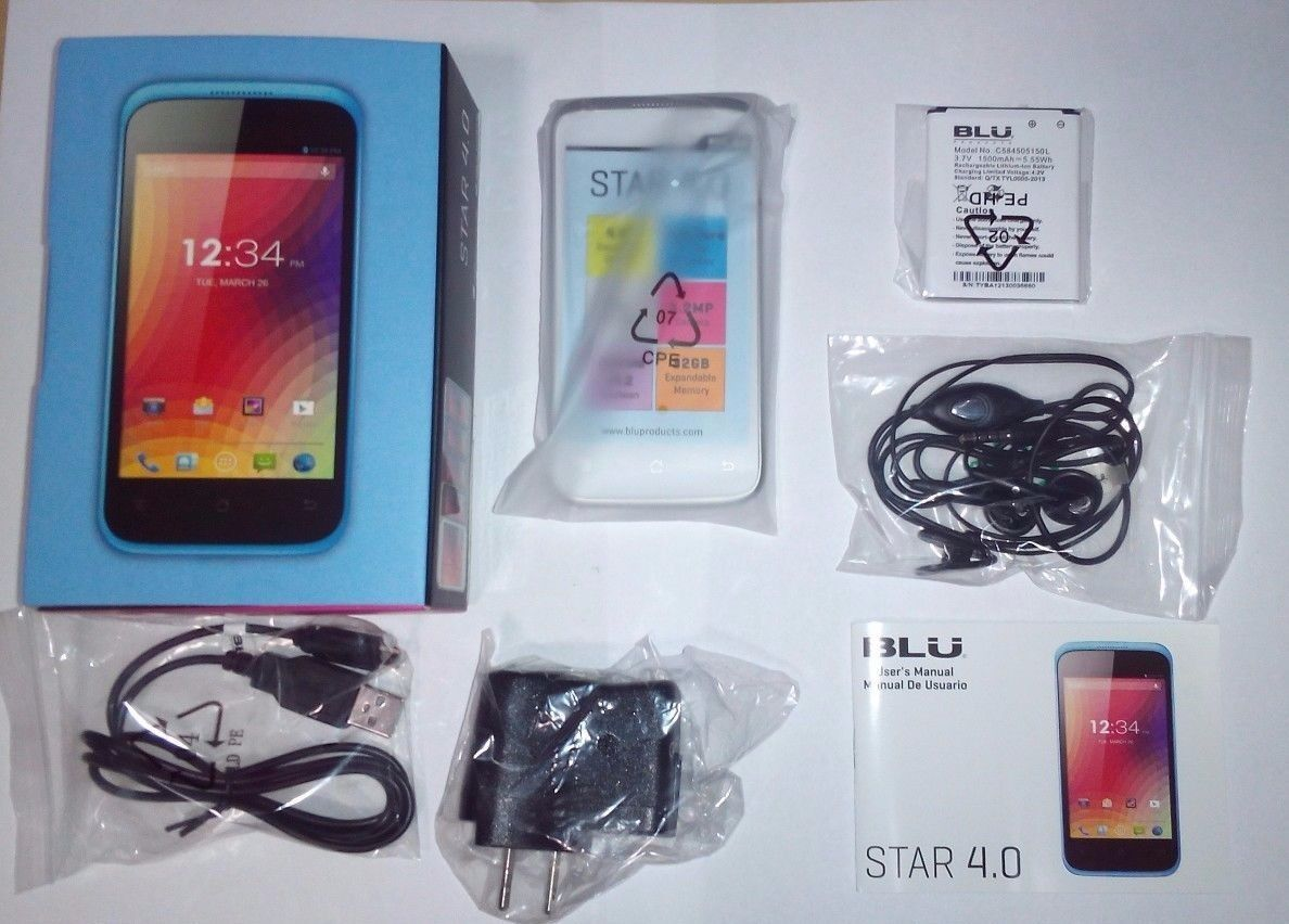 """BLU Star 4.0 S410a Unlocked GSM Android 4.2 Smartphone with 4.0"""" Touchscreen"""