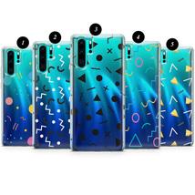 Retro Memphis clear case for Huawei 20 30 P10 P20 P30 P40 P9 Mate Lite Pro X E - $17.99