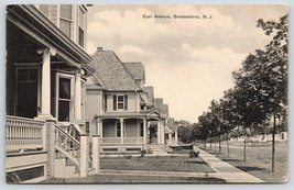 Swedesboro New Jersey~East Avenue Homes~Victorian Porches~BS Dilks~1908 B&W - $10.40