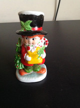 Vintage victoria caroler male Christmas boy ceramic figurine - $10.00