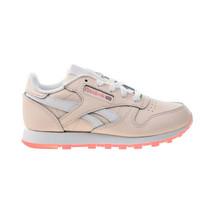 Reebok Classic Leather Little Kids' Shoes Pal Pink-White-Panton FU9218 - $45.10