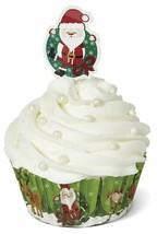 2 Pack Wilton Christmas Cupcake Combo Baking Cups & Picks Santa & Elf 24... - $10.57