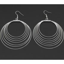 Wholesale Lot 10 Bright Silver Tone Concentric ... - $15.21