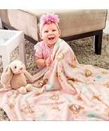 Pink Animals Baby Nursery Light Blanket Stroller Size Soft and Warm Comf... - $44.50