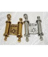 TORAH FINE PEWTER PENDANT CHARM - 15mm L x 23mm W x 4mm D - $0.99
