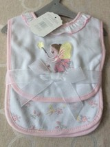 Baby Girl Bib and Burp Set of 2 PC. 100% Cotton. Embroidered Fairytale. - $8.50