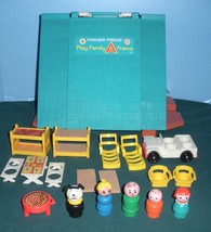 Vtg. Fisher Price Play Family #990 A-Frame Complete w/Wooden LP/NEAR MIN... - $110.00