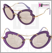 MIU MIU SCENIQUE Butterfly 11R Lilac Translucent Violet Gold Sunglasses ... - $227.70