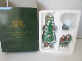 DEPT 56 56100 HERITAGE VILLAGE THE HOLLY AND THE IVY 1997 PC MINT  L131 - $21.51