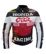 CBR HONDA RED MOTORBIKE BIKERS ARMOURED COWHIDE LEATHER MOTORCYCLE JACKET - $194.99