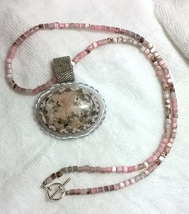 Pink n Grey Necklace - $35.00