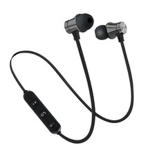 Earphone Magnetic Wireless bluetooth with mic For iPhone Samsung Xiaomi - $3.95