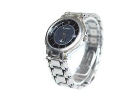 Auth BURBERRYS Date Black Dial Stainless Steel Men's Solar Cell Watch - $169.00