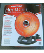 NEW Presto Parabolic Electric Heater Heat Dish 1000 Watts Variable Set 0... - $128.68