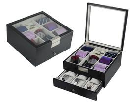 Top Quality Black Wood Handmade Men Ties,Watch and Jewelry Box Gift (BU... - €79,76 EUR