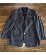 * EVAN PICONE Men's Suit Blazer Jacket Wool 44 S black pin stripes - $24.75