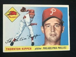 1955 Topps Baseball Card #62 THORNTON KIPPER - Philadelphia Phillies - $4.90
