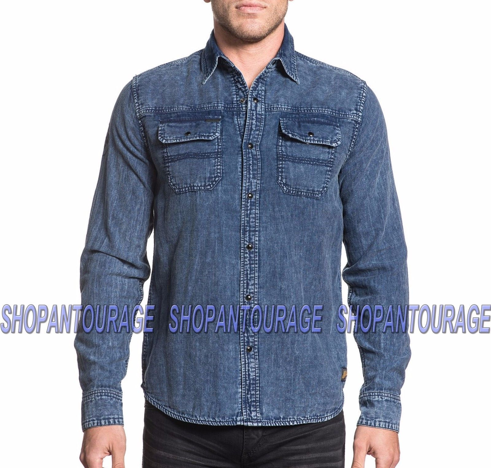 AFFLICTION Double Sided 110WV621 Men`s New Long Sleeve Reversible L/S Shirt - $82.95