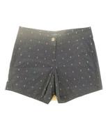 Nautica Womens Cotton Stretch Twill Shorts SZ 14 Navy Seas Navy Blue wAnchors - £12.31 GBP