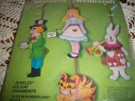 Bucilla Christmas Needlecraft Kit 3389~Alice In Wonderland Set of 4 - $75.00