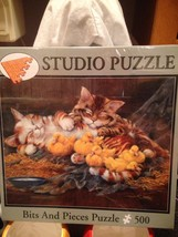 """Bits and Pieces Kittens & Ducklings Fiesta Puzzle 500 Piece 16"""" x 20"""" New Sealed - $17.99"""