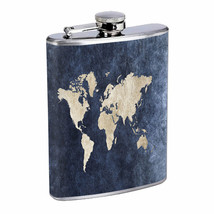 Global Map Em1 Flask 8oz Stainless Steel Hip Drinking Whiskey - $279,96 MXN