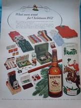 Hunter Blended Whiskey Print Advertisement Art 1950s - $5.99
