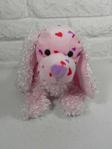 Webkinz Love Spaniel Pink Red Green Ganz Stuffed Animal No Code Tag - $8.90