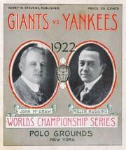 New York Giants Vs Yankees 8X10 1922 Program Photo Baseball Picture Ny - $3.95