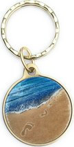 Foot Prints In The Sand Color Bronze Spiritual Keychain It Was Then That I Carri - $13.85