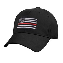 NEW! Thin Red Line Hat Cap Fire Lives Matter Black Red One Size Men Adult - $9.11