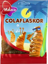 Malaco ColaFlaskor (Cola bottle)Cola Taste Gummy Candy 12 packs of 80g / 33.8 oz - $54.45