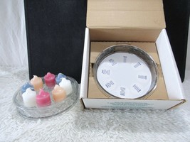 PartyLite Cristalle Sampler with Crystal Lid #P0170 New w/ Original Box, Decor - $21.95